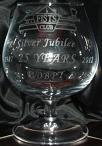Small photograph of a FISTS 25th Anniversary Brandy glass.  Click for more information