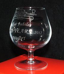 Photograph of brandy glass