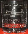 Small photograph of a FISTS 25th Anniversary Whisky tumbler.  Click for more information