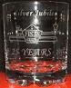 Small photograph of a FISTS 25th Anniversary Whisky tumbler.