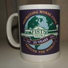 Small photograph of a FISTS 25th Anniversary Mug in lilac.  Click for more information
