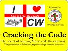 Ian G4XFC's logo for the talk 'Cracking the Code, the Secret of Learning Morse Code the Easy Way'.