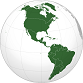 Small globe showing the Americas.