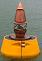 Small photograph of the Sea of Voices data buoy in Brighton Marina.  Click to show a large image