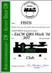 Small image of FISTS CW Club's 2014 EuCW QRS Week certificate.