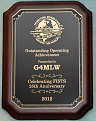 Small image of Ian G4MLW's FISTS Outstanding Achievement Plaque.