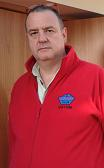 Small photograph of David G4YVM wearing his red fleece with FISTS logo and callsign.