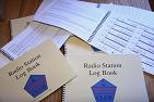 Small photograph of FISTS Logbooks from David G4YVM.