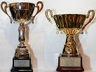 Small photograph of the 2nd Greek Telegraphy Club (G.T.C.) CW Cup trophies.