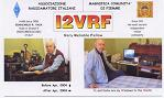 Gian I2VRF's QSL card.  Click to view a larger image in a new window.