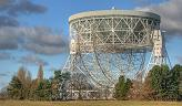 Photograph of the Lovell radio telescope at Jodrell Bank Observeratory, Cheshire, UK, photographed by Mike Peel; Jodrell Bank Centre for Astrophysics, University of Manchester.  Click to view a larger photograph in a new window.
