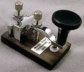Small photograph of the production prototype of the Morse Express Christmas Key 2014.