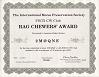 Small image of a Rag Chewers Award certificate.