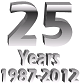 Image saying '25 Years 1987-2012'.