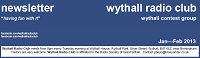 Small image of the top of the Wythall Radio Club January-February 2013 Newsletter.