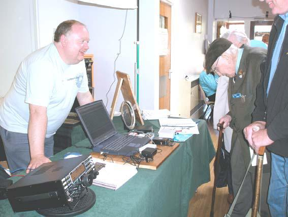 Photograph of Yeovil 24th QRP Convention FISTS stand showing Paul M0BMN