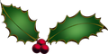 Clipart Christmas holly.