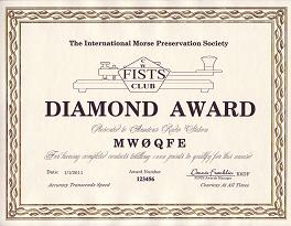 Image of Diamond Century Award certificate