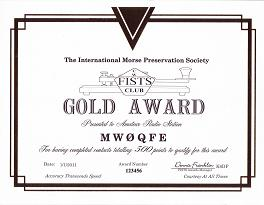 Image of Gold Century Award certificate