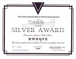 Image of Silver Century Award certificate