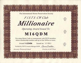 Image of Millionaire certificate