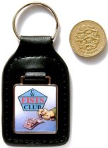 Small photograph of Key Ring alongside UK 1 pound coin.  Click to show more information